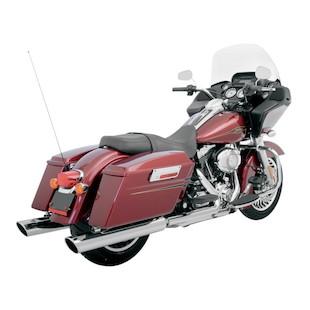 """Klock Werks Super Saver 4"""" Slip-On Mufflers For Harley Touring 1995-2015"""