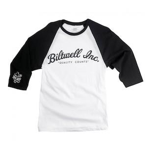 Biltwell Script Baseball 3/4 Sleeve Jersey T-Shirt
