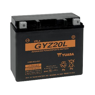 Yuasa GYZ20L Factory Activated AGM High Performance Battery