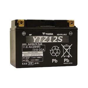 Yuasa YTZ12S Factory Activated AGM High Performance Battery