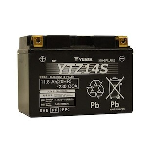 Yuasa YTZ14S Factory Activated AGM High Performance Battery