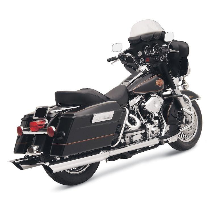 "Bassani 4"" Slip-On Mufflers For Harley"