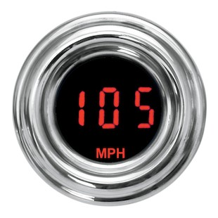 Dakota Digital 4000 Series Retro Mini Gauges For Harley - Red