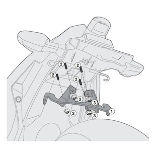 Givi 4108KIT Side Case Kit Kawasaki Ninja 300 2013-2016