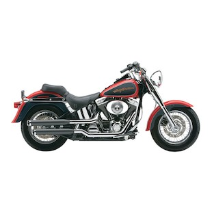 "Cobra 3"" Slip-On Mufflers For Harley Softail Fatboy / Deuce 2000-2006"