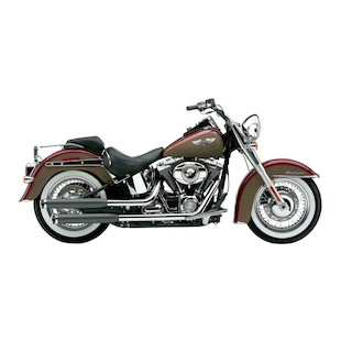 "Cobra 3"" Slip-On Mufflers For Harley Softail Deluxe / Crossbones 2007-2017"
