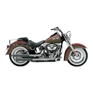 """Cobra 3"""" Slip-On Mufflers For Harley Softail Deluxe / Crossbones 2007-2014"""