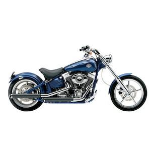 "Cobra 3"" Slip-On Mufflers For Harley Softail Rocker / Convertible 2007-2014"
