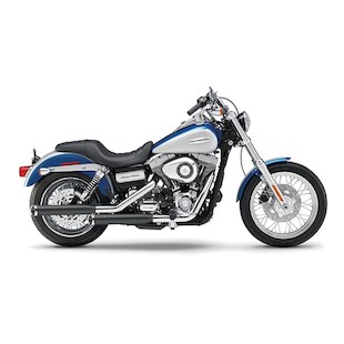 """Cobra 3"""" Slip-On Mufflers For Harley Dyna 1995-2014"""
