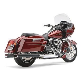 "Cobra 3"" Slip-On Mufflers For Harley Touring 1995-2014"