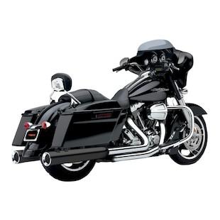 """Cobra Power-Flo 4.5"""" Slip-On Mufflers For Harley Touring 1995-2014"""