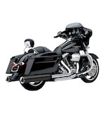 "Cobra Power-Flo 4.5"" Slip-On Mufflers For Harley Touring 1995-2014"