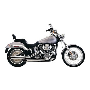 """Cobra 3.5"""" Deluxe Slash Cut Exhaust For Harley Softail 1986-2006"""