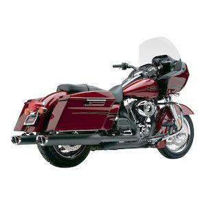 Cobra Tri-Oval Slip-On Mufflers For Harley Touring