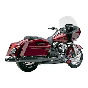 Cobra Tri-Oval Slip-On Mufflers For Harley