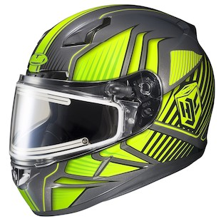 HJC CL-17 Redline Hi-Viz Snow Helmet - Electric Shield