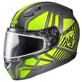 HJC CL-17 Redline Hi-Viz Snow Helmet - Dual Lens