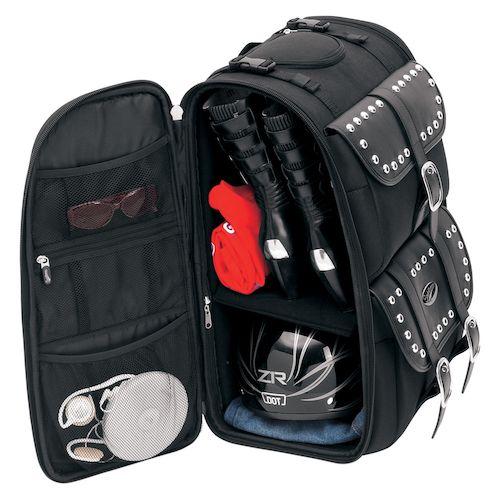 Saddlemen S3500 Deluxe Sissy Bar Bags Revzilla