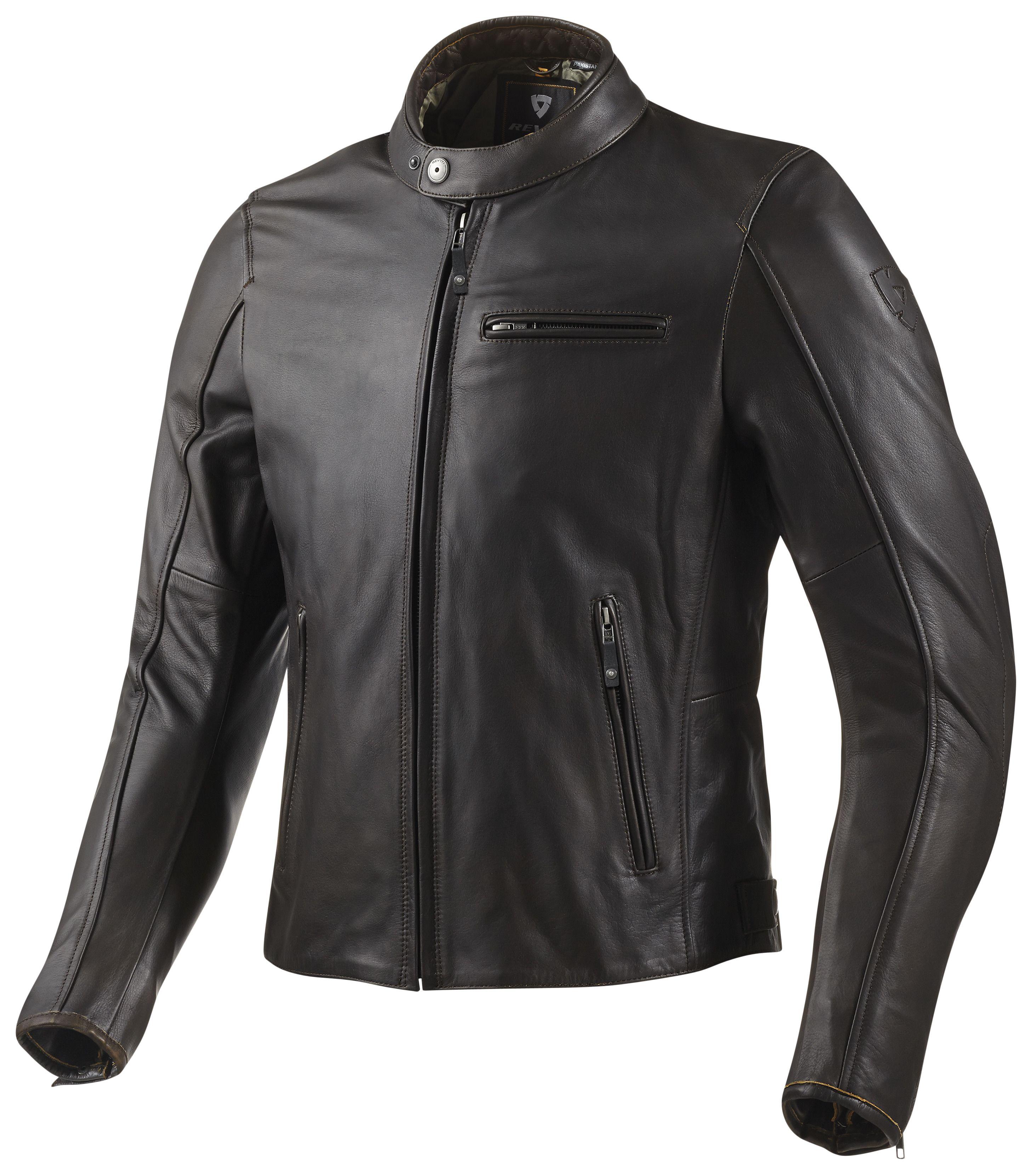 Leather jacket for motorcycle riding - Flatbush Leather Jacket Revzilla