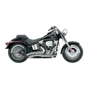 "Cobra Speedster Short Swept 2.5"" Exhaust For Harley Softail 1986-2006"