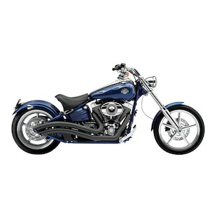Cobra Speedster Swept Exhaust For Harley Rocker 2008-2011