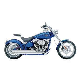 """Cobra Speedster Slashdown 2.5"""" Exhaust For Harley Rocker 2008-2011"""