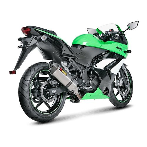 akrapovic slip-on exhaust kawasaki ninja 250r 2008-2013 - revzilla