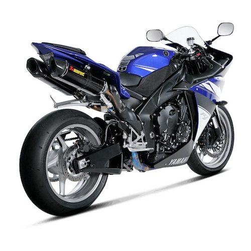 Akrapovic racing exhaust system yamaha r1 2009 2014 revzilla for Yamaha exhaust systems