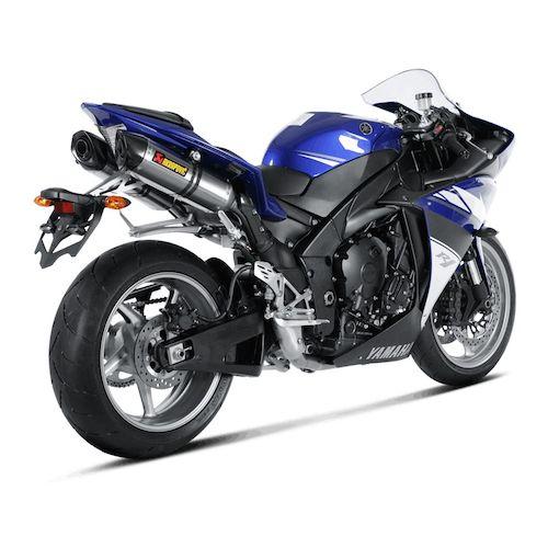 Akrapovic exhaust system yamaha r1 2009 2014 revzilla for Yamaha exhaust systems