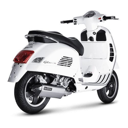 akrapovic slip on exhaust vespa gts gtv revzilla. Black Bedroom Furniture Sets. Home Design Ideas