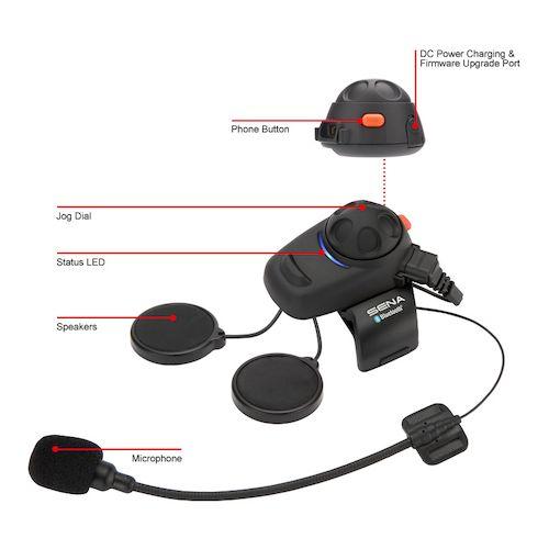 sena smh5 bluetooth motorcycle headset revzilla. Black Bedroom Furniture Sets. Home Design Ideas