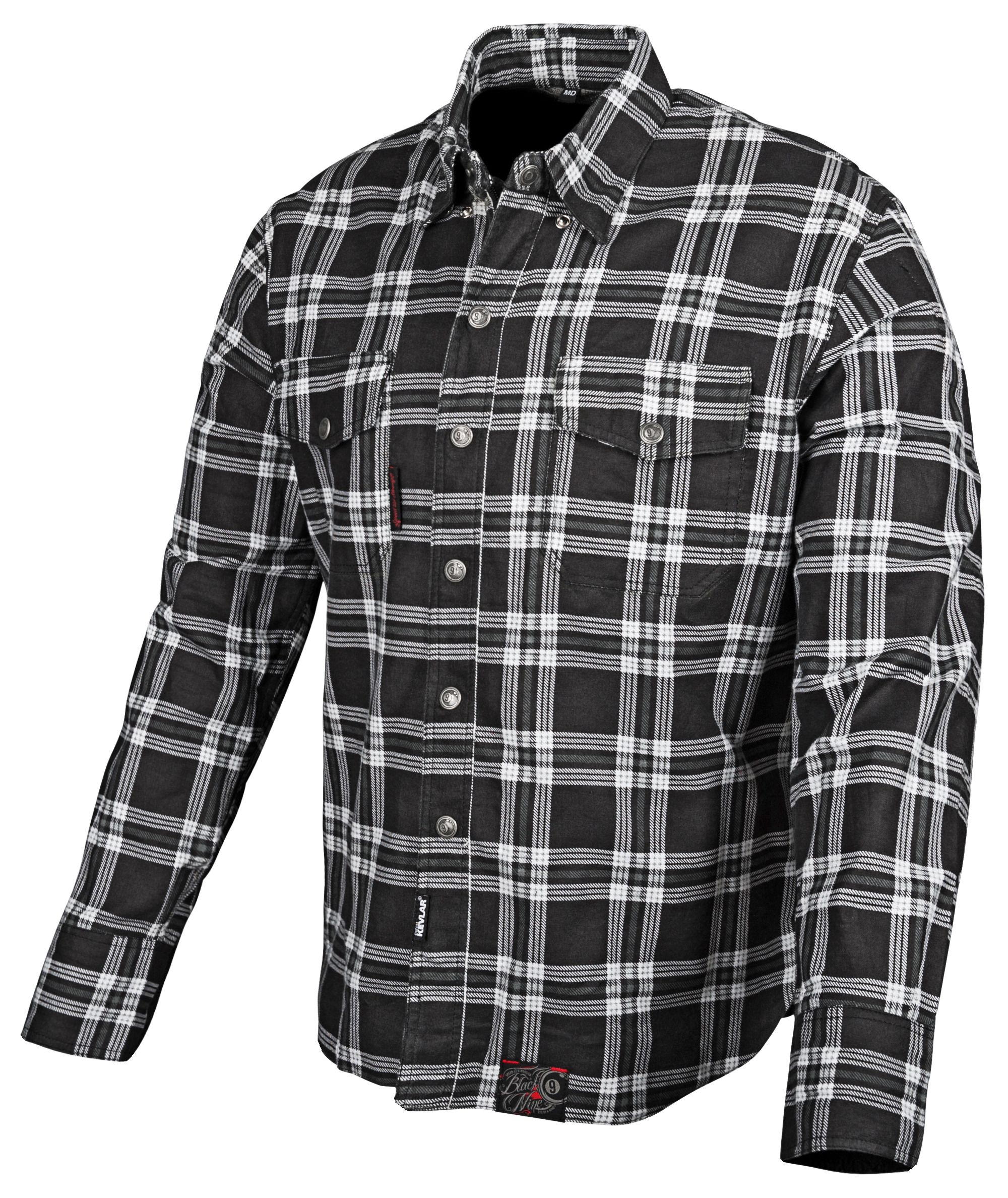 Flannel Motorcycle Jacket >> Speed And Strength Black 9 Moto Shirt Revzilla