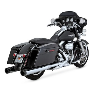 Vance & Hines Hi-Output Carbon Fiber Tip Slip-On Mufflers For Harley Touring 1995-2015