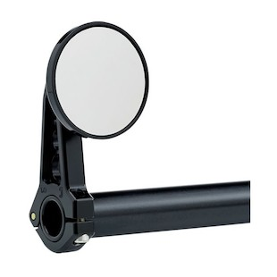 Joker Machine Round Swivel Clamp-On Bar Mount Mirror