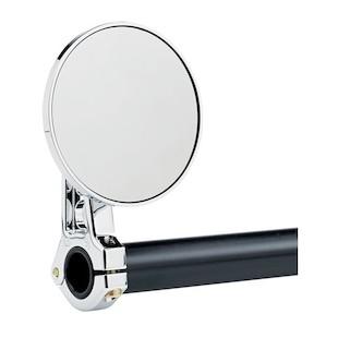 Joker Machine Round Swivel Clamp-On Bar Mount Mirror
