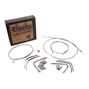 Burly Handlebar Cable Installation Kit For Harley Softail FL 2011-2013