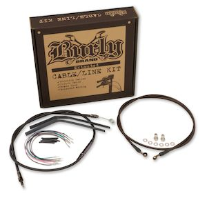 Burly Handlebar Cable Installation Kit For Harley Touring w/ABS 2008-2013
