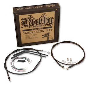 Burly Handlebar Installation Kit For Harley Street/Electra Glide w/o ABS 2008-2013