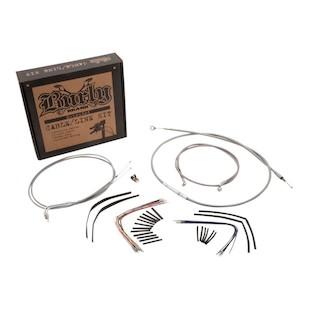 Burly Handlebar Cable Installation Kit For Harley Road King 1997-2001