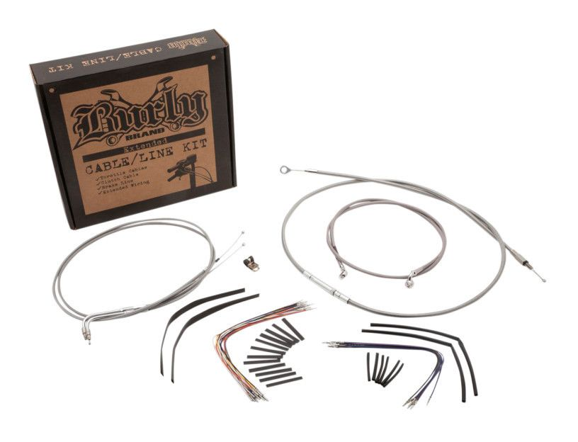 burly handlebar cable installation kit for harley road king glide rh revzilla com HVAC Wiring Diagrams 3-Way Switch Wiring Diagram