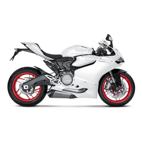 akrapovic evolution exhaust system ducati panigale 899 1199 1299 revzilla. Black Bedroom Furniture Sets. Home Design Ideas