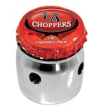 LA Choppers Bottle Cap Choke Knob For Harley 1988-2006