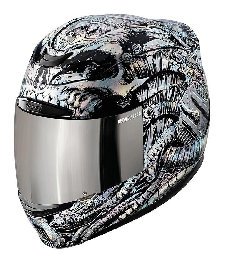 Icon Airmada Bioskull Helmet RevZilla - Motorcycle helmet decals graphicsmotorcycle helmet graphics the easy helmet upgrade
