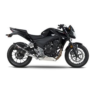 Yoshimura R-77 Slip-On Exhaust Honda CBR500R / CB500X / CB500F 2013-2014 Carbon Fiber / Slip-On [Previously Installed]