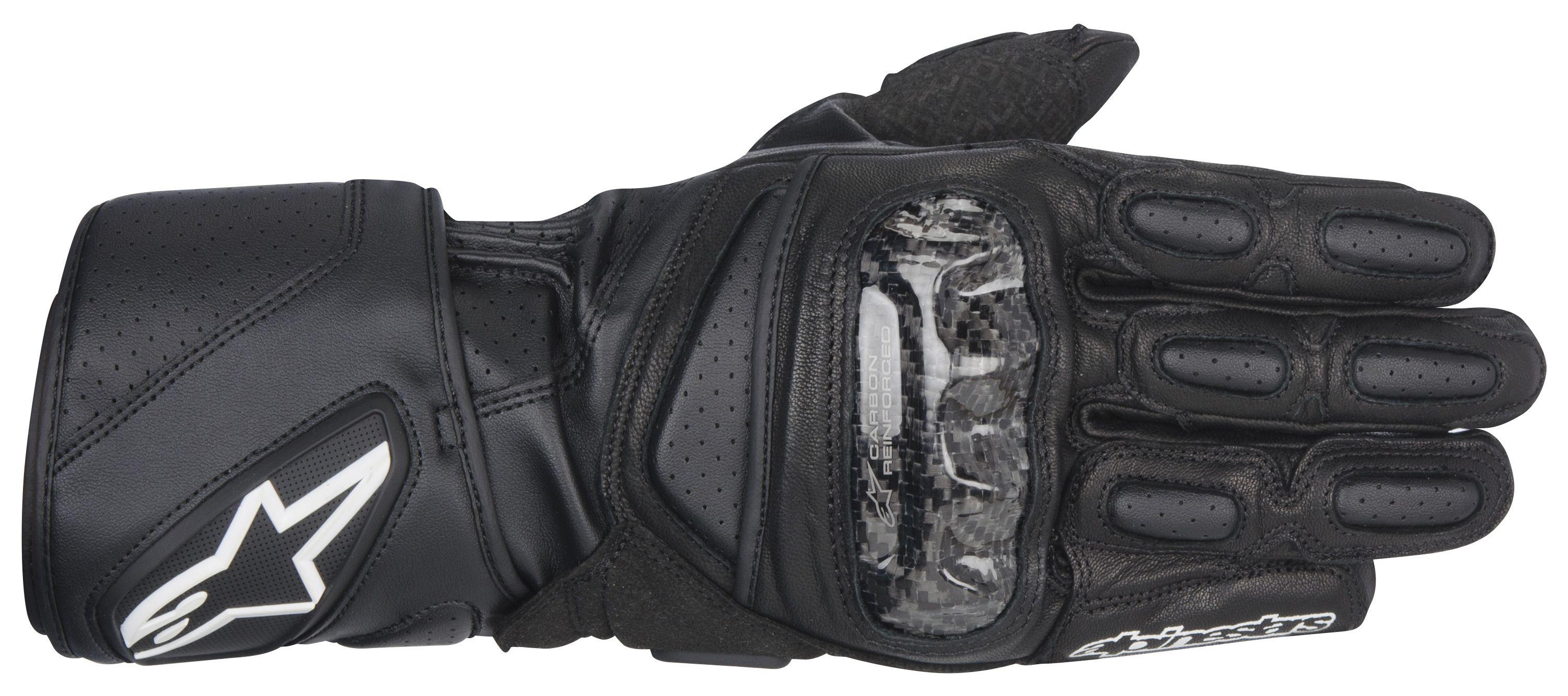 Black leather cut off gloves - Black Leather Cut Off Gloves 55