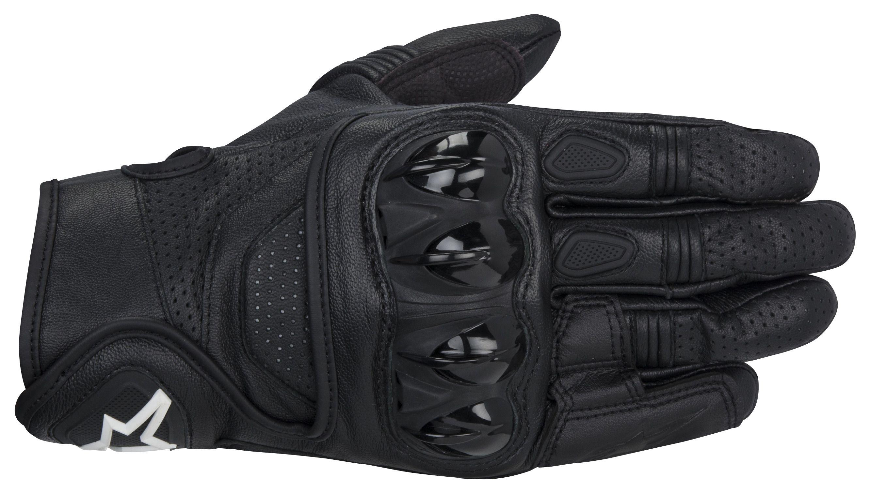 Black leather cut off gloves - Black Leather Cut Off Gloves 38