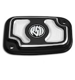 Roland Sands Cafe Front Brake Master Cylinder Cap For Harley Touring 2008-2012 Contrast Cut [Open Box]