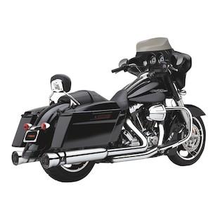 """Cobra Race-Pro 4.5"""" Chrome Slip-On Mufflers For Harley Touring 1995-2015"""