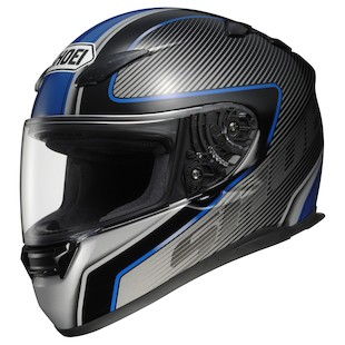 Shoei RF-1100 Transmission Helmet Black/Silver/Blue / MD [Blemished]
