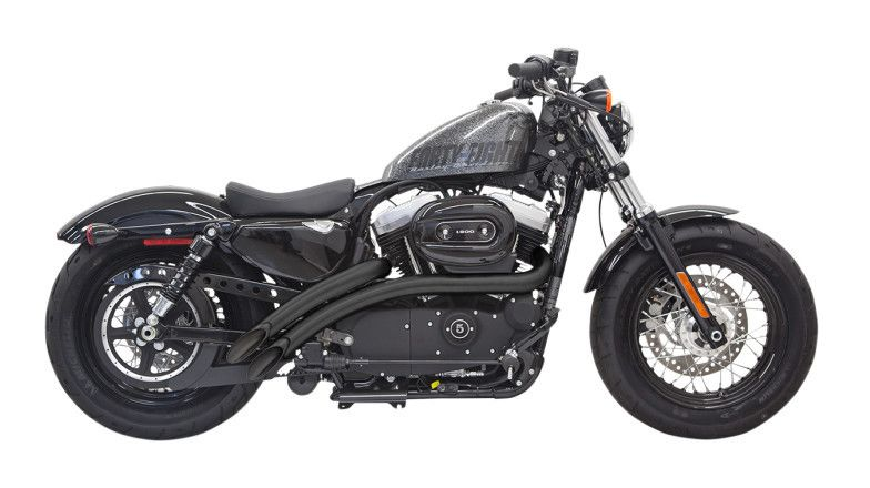 Bassani Radial Sweepers Exhaust With Heat Shields For Harley Sportster 20142019 Revzilla: Best Slip On Exhaust For Sportster At Woreks.co